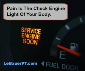 pain is the check engine light of your body LeBauer Physical Therapy Greensboro